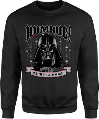 2c1cb81f2e58 Star Wars Darth Vader Merry Sithmas Black Christmas Sweatshirt