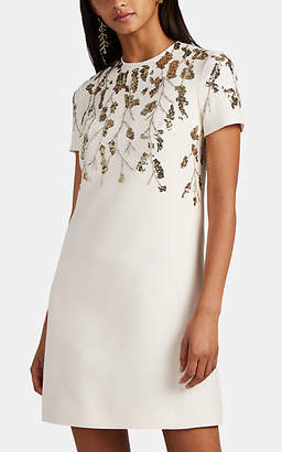 Valentino Women's Sequin-Embellished Wool-Silk Minidress - Ivorybone
