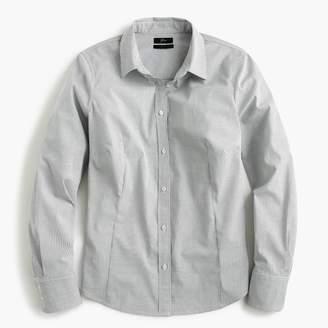 J.Crew Tall curvy slim stretch perfect shirt in mini windowpane