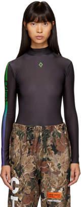 Marcelo Burlon County of Milan Black Barcode Bodysuit