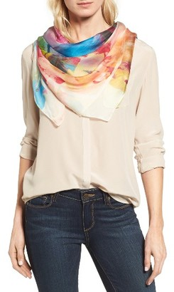 Women's Nordstrom Impression Paradise Silk Scarf $69 thestylecure.com