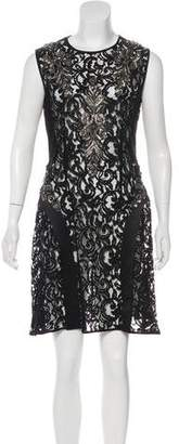 Alberta Ferretti Embellished Lace Dress