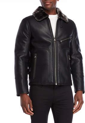 Andrew Marc Lenox Faux Fur Collar Jacket