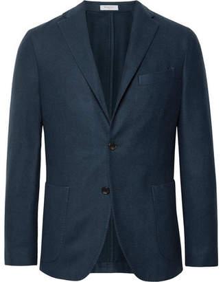 Boglioli Navy K-Jacket Slim-Fit Garment-Dyed Felted Wool Blazer