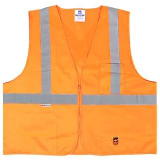 Viking Big Men's Solid Zipper Safety Vest