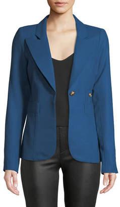 Smythe Duchess Single-Button Linen Blazer