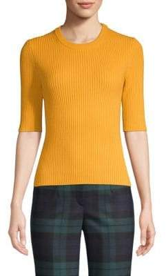 Michael Kors Ribbed Stretch Cashmere Sweater
