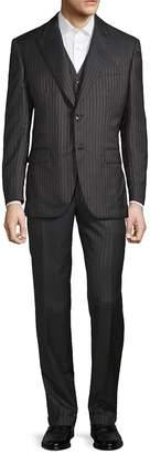 Brioni Men's Metallic Pinstripe Three-Piece Suit