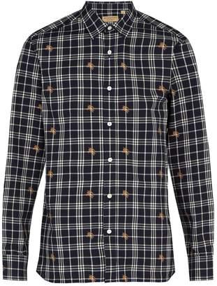 Burberry Edward fil-coupé checked cotton shirt