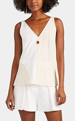 Derek Lam 10 Crosby WOMEN'S CUTOUT COLORBLOCKED CREPE TANK