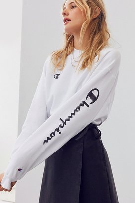 Champion + UO Powerblend Crew-Neck Sweatshirt $55 thestylecure.com
