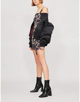Jaded London Chain-print stretch-jersey mini dress