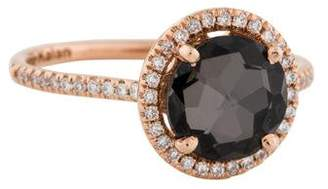 Suzanne Kalan 18K Black Night Quartz & Diamond Color Classics Ring