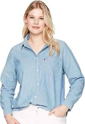 Levi's Women's Plus-Size Ryan 1 Pocket Boyfriend Shirt