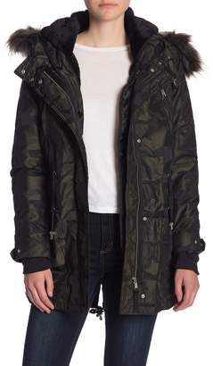 Dex Camo Print Faux Fur Lined Hooded Anorak Jacket