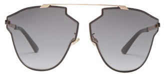 Christian Dior So Real Fast Angular Metal Aviator Sunglasses - Womens - Black
