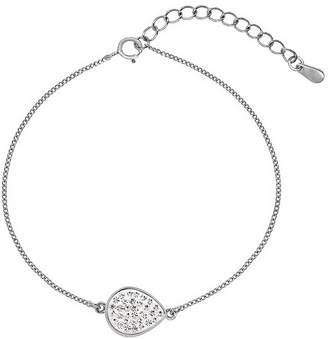 Evoke Sterling Silver & Swarovski Elements Tear Drop Bracelet