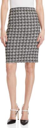 Max Studio Jacquard Pencil Skirt