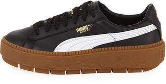 Puma Platform Trace Leather Sneakers