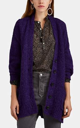 Etoile Isabel Marant Women's Scott Alpaca-Blend Bouclé Oversized Cardigan - Purple