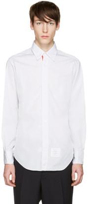 Thom Browne Grey Poplin Classic Shirt $435 thestylecure.com