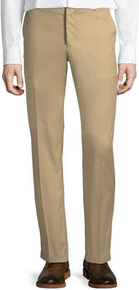 Prada Men's Poplin Cotton Straight-Leg Pants