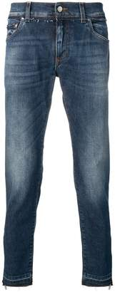 Dolce & Gabbana faded straight leg jeans