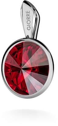 Swarovski GIORRE ¤ New Rivoli Pendant, ¤ Fine Sterling Silver 925 ¤ Crystal : Siam | Silver : White Rhodium Plating