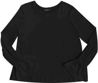Side Split Fluted-Sleeves Top, Size 7-16