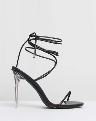 Missguided Skinny Strap Wrap Heels