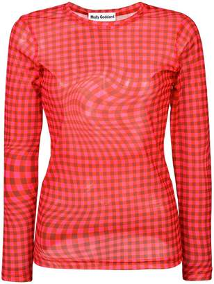 Molly Goddard checked fitted blouse
