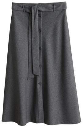 MANGO Buttons flared skirt