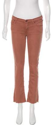 Mother Low-Rise Straight-Leg Jeans