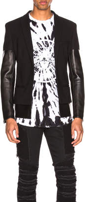 Balmain Leather Mix Jacket