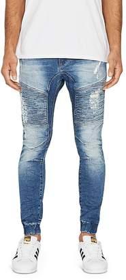 NXP Destroyer Tapered Fit Jeans in Blue Trash