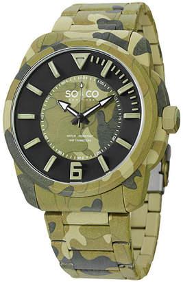 Co SO & So & Mens Green Bracelet Watch-Jp15039