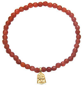 Satya 3.5mm Gemstone Bead Bracelet, Goldtone Br