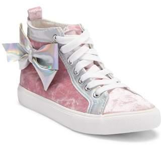 Jo-Jo JOJO SIWA Pink Velvet Bow High Top Sneakers (Little Kid & Big Kid)