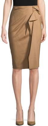 Carolina Herrera Women's Ruffled Wool-Blend Pencil Skirt
