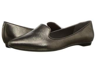 Donna Karan Gold Loafer Women's Slip-on Dress Shoes