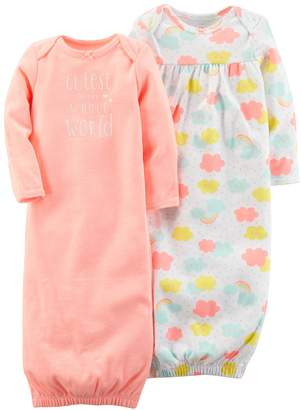 Carter's Baby Girl 2-pk. Cloud Print & Graphic Sleeper Gowns