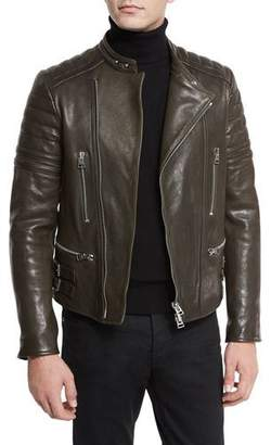 TOM FORD Icon Quilted Leather Biker Jacket $5,390 thestylecure.com