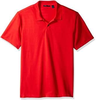 Perry Ellis Men's Micro Stripe Jacquard 2 Button Polo Shirt