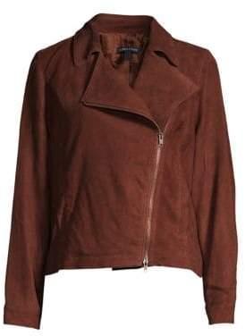 Eileen Fisher Suede Moto Jacket