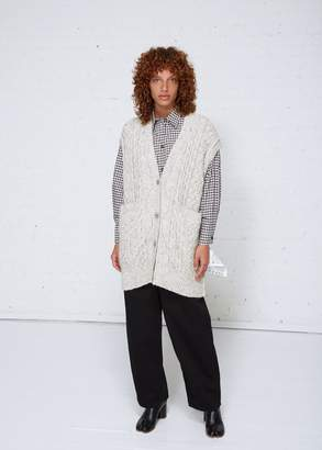 MM6 MAISON MARGIELA Cable Knit Sleeveless Cardigan
