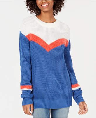 Freshman Juniors' Chevron-Stripe Sweater