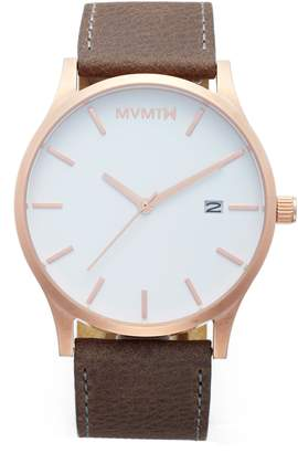 MVMT The Classic Leather Strap Watch, 45mm