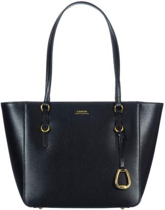 58701735db Lauren Ralph Lauren Black Leather Bag - ShopStyle UK