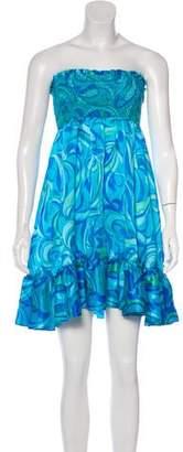 Calypso Silk Strapless Dress