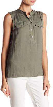 Vince Camuto Sleeveless Henley Blouse (Regular & Petite)